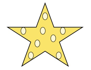 Polka Dot Stars Clip Art
