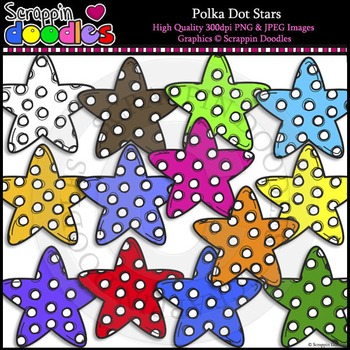 Polka Dot Stars FREEbie :)