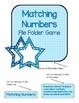 Polka Dot Stars and Numbers  File Folder Game