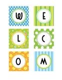 Polka Dot & Stripes - Welcome Sign