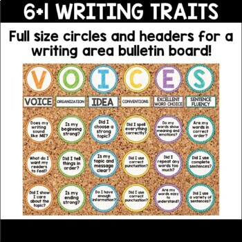 Writing Traits and Cubes Student Aides and Posters Bundle