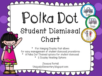 Polka Dot Student Dismissal Chart (How We Go Home)