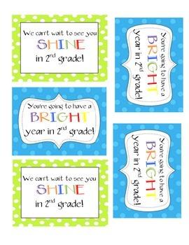 Polka Dot Student Gift- Shine in 2nd Grade