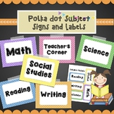 Polka Dot Subject Posters and Labels