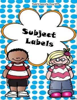 Polka Dot Subject Labels