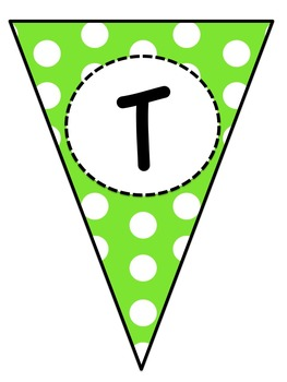 Polka Dot Subject Pennant Banners