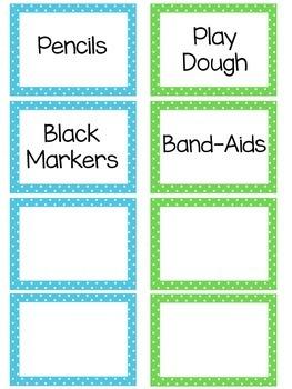 Polka Dot Supply Labels