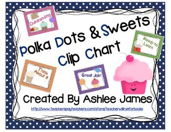 Polka Dot & Sweets Clip Chart
