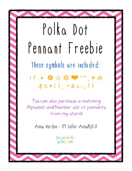 Polka Dot Symbol and Punctuation Pennants