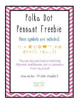 Polka Dot Symbol and Punctuation Pennants
