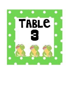 Polka Dot Table Animal Signs 1-6