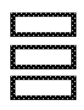 Polka Dot Table Labels