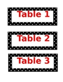 Polka Dot Table Labels