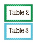Polka Dot Table Numbers