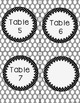Polka Dot Table Numbers FREE