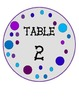 Polka Dot Table Numbers (Gray, Purple, & Blue)