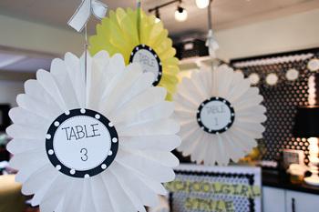 Classroom Decor Black and White Polka Dot Table Signs