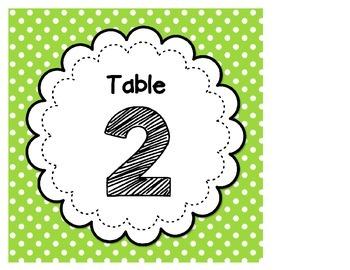 Polka Dot Table Tags