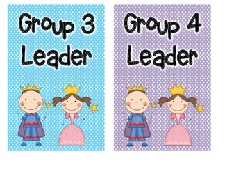 Polka Dot Table/Group Leader/Captain Table Signs
