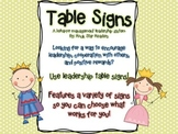 Polka Dot Table/Group Leader/Captain Table Signs