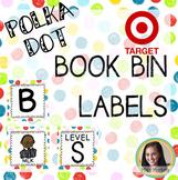 Editable Polka Dot Target Adhesive Book Bin Labels