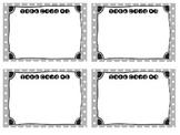 Polka Dot Task Card Template