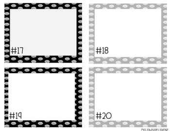 Polka Dot Task Card Templates