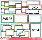 Polka Dot Task Card Templates Clip Art