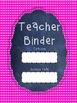 Polka Dot Teacher Binder