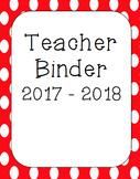 Polka Dot Teacher Binder Covers