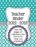 Polka Dot Teacher Binder Organization Bundle w/ Editable Binder Covers