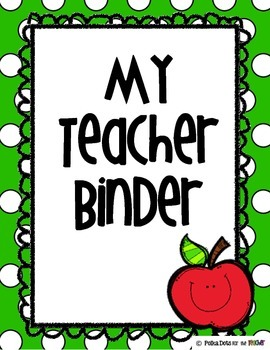 Polka Dot Teacher Binder Organizers