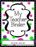 Polka Dot Teacher Binder Tabs