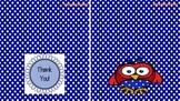 Polka Dot Teacher Thank You Cards
