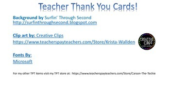 Polka Dot Teacher Thank You Cards