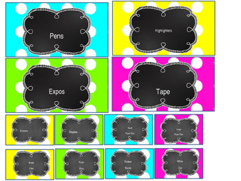 Teacher Toolbox Labels- Polka Dots