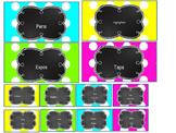 Teacher Toolbox Labels- Polka Dots