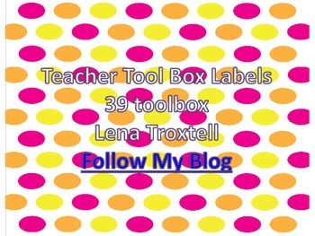 Polka Dot Teacher Toolbox Labels (39 drawers)