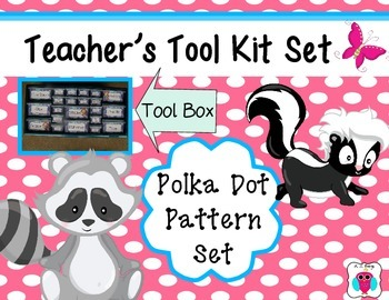 Polka Dot Teacher's Tool Box Set