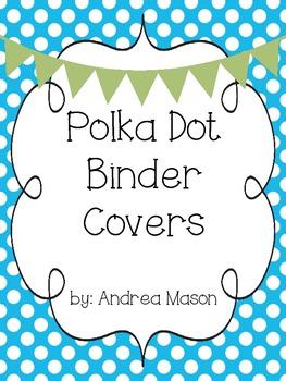Polka Dot Teaching Binder Covers