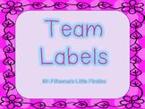 Polka Dot Team Labels