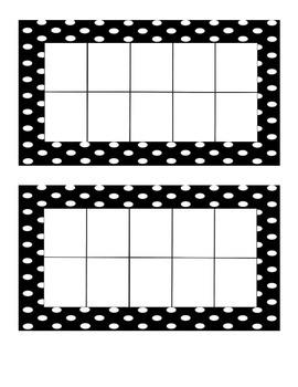 Polka Dot Ten Frame