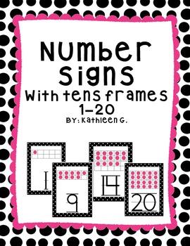 Polka Dot Ten Frames Posters