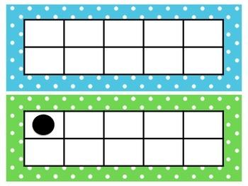 Polka Dot Ten-Frames and Five-Frames