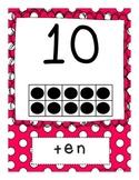 Polka Dot Tens Frames 0-10 FREEBIE