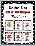 Polka Dot Classroom Decor - 2D Shapes & 3D Shapes