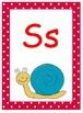 Polka Dot Theme Alphabet Posters, Comic Sans Font