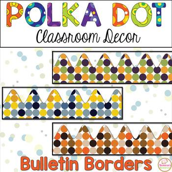 Polka Dot Classroom Bulletin Border