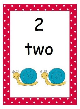 Polka Dot Theme Number Posters With Pictures