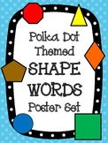 Polka Dot Theme Shape Words Poster Set